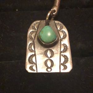 Other - 💲50% off w/bundle💲SS/Turq. NativeAmericanPendant